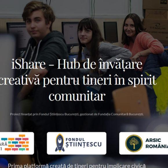 iShare – Hub de învățare creativă pentru tineri în spirit comunitar